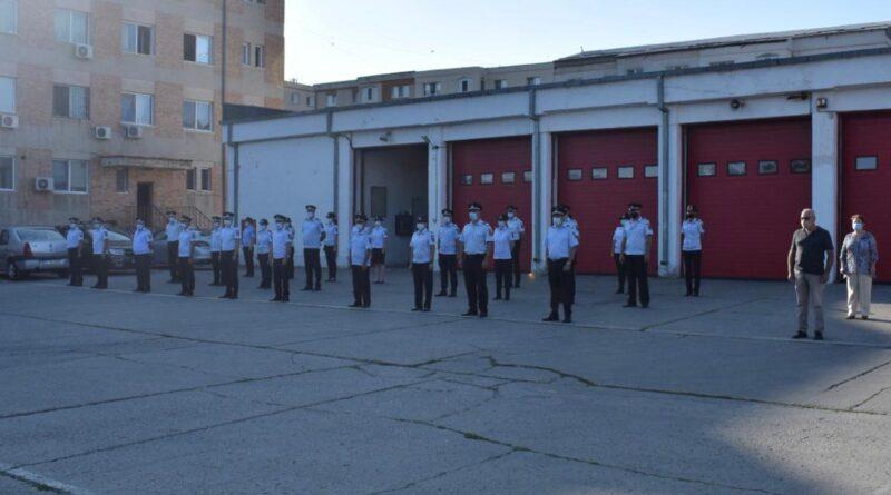 Tulcea. Ceremonial de ziua pompierilor