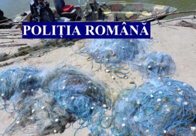 Video. 21 de kg de sturion și zeci de plase monofilament confiscate în Deltă